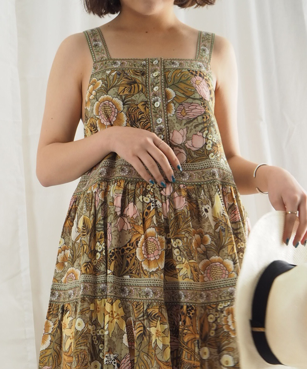 bd54c8a9f83 ... CollectiveSpell   The Gypsy Collective   JUNGLE MIDI SUNDRESS (Khaki).  Sale. Previous