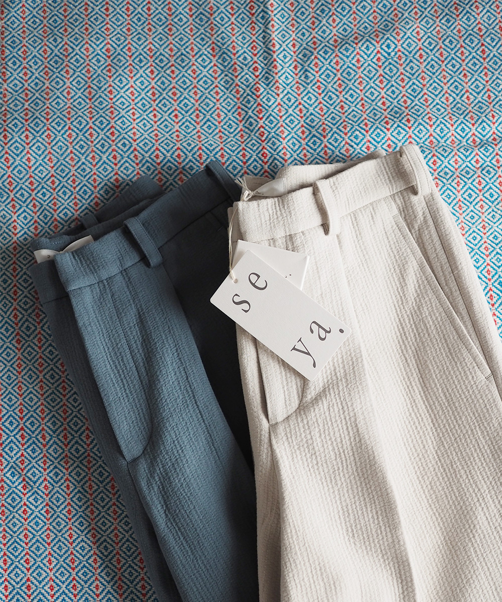 SEYA. #06/Summer pants Sashiko triple cotton